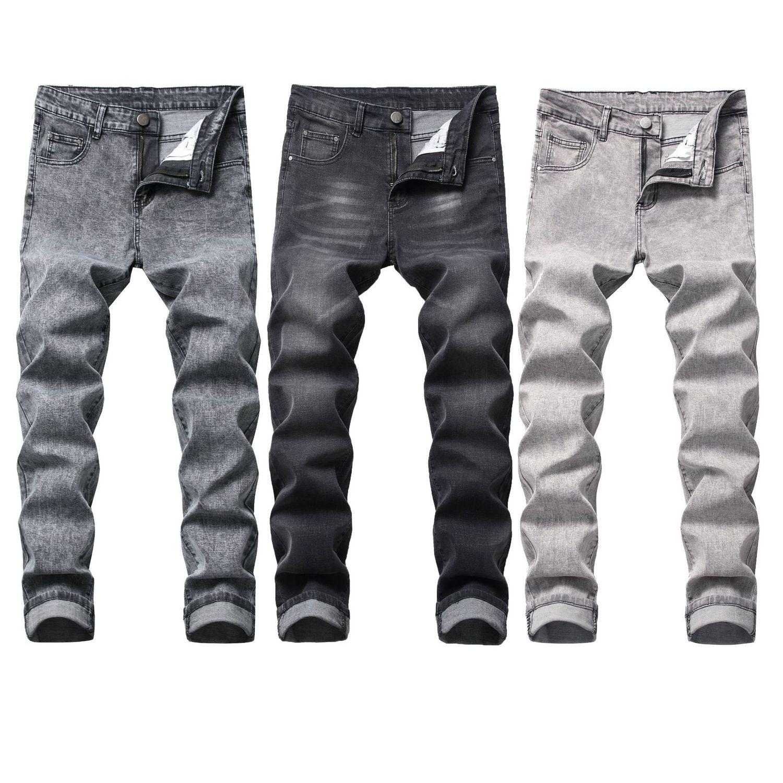 Men's Wear Elastic Force Jeans Man Cowboy Trousers Men Casual Cotton Slim Stretch Denim Jeans Slim Feet Pants