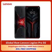 DHL bezpłatne globalne oprogramowanie oryginalne Lenovo Legion Pro 5G telefon do gier Snapdragon 865 Plus 64MP główny aparat WiFi 6 Google Play
