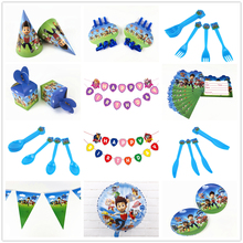 Paw Patrol Birthday Party Decorations Kids Favor Birthday Party Bag Paper Cups Plates Baby Shower Disposable Tableware Supplies