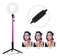 Mirror LED Selfie Ring Light Studio Photography Photo Lights Fill Light Tripod for Mobile Phone Live Makeup 160MM/260MM Optional