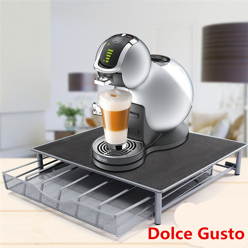 24Pcs Suit For Dolce Gusto Capsules Metal Capsule Coffee Pod Holder Rack Capsule Storage Drawers Organizer Coffeeware Sets