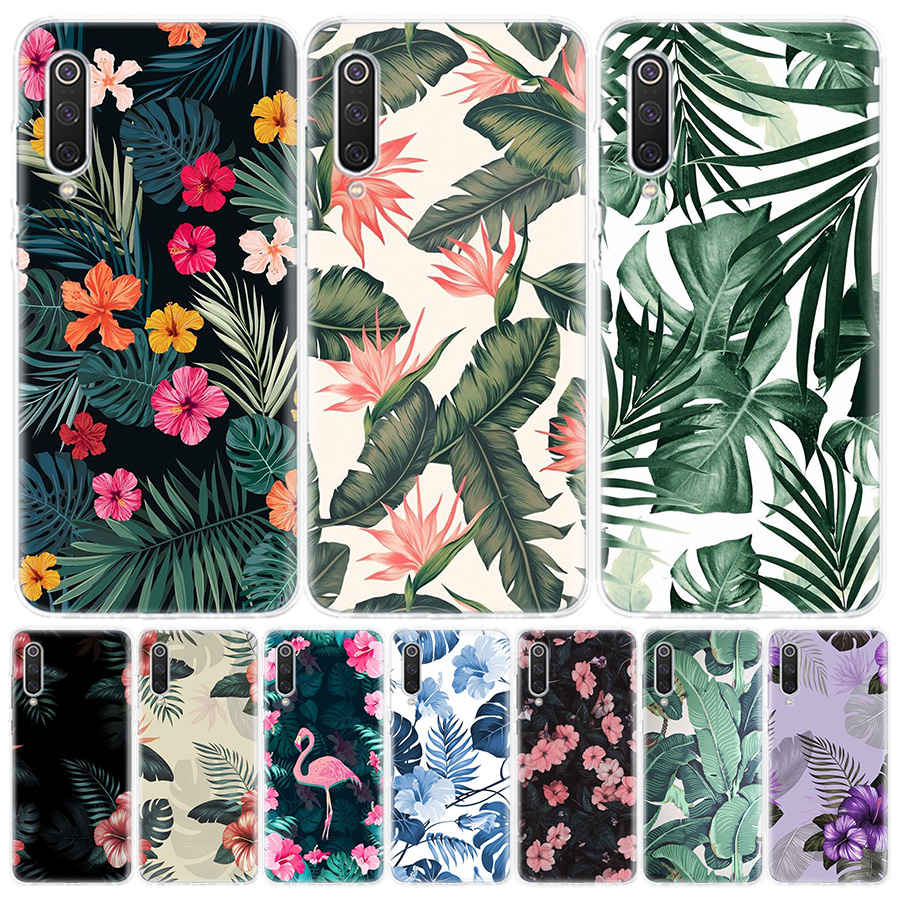 Banana Leaf Pattern Tropical Phone Case For Xiaomi Redmi 6A 7A 8A Note5 7 8 8T 9S 10 K20 K30 S2 MI8 9 6X CC9 F1 Lite Pro Cover C