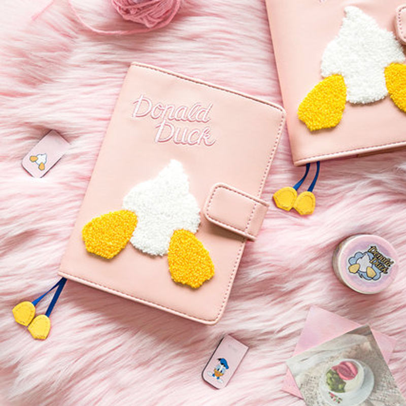 2020 Yiwi Kinbor 120x165mm Pink Cute Disney Donald Duck Notebook DIY butt Cover Planner Organizer Book With Sticker Gift Packing