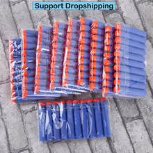 100pcs For Nerf Bullets EVA Soft Hollow Hole Head 7.2cm Refill Bullet Darts for Nerf Toy Gun Accessories for Nerf Blasters(China)