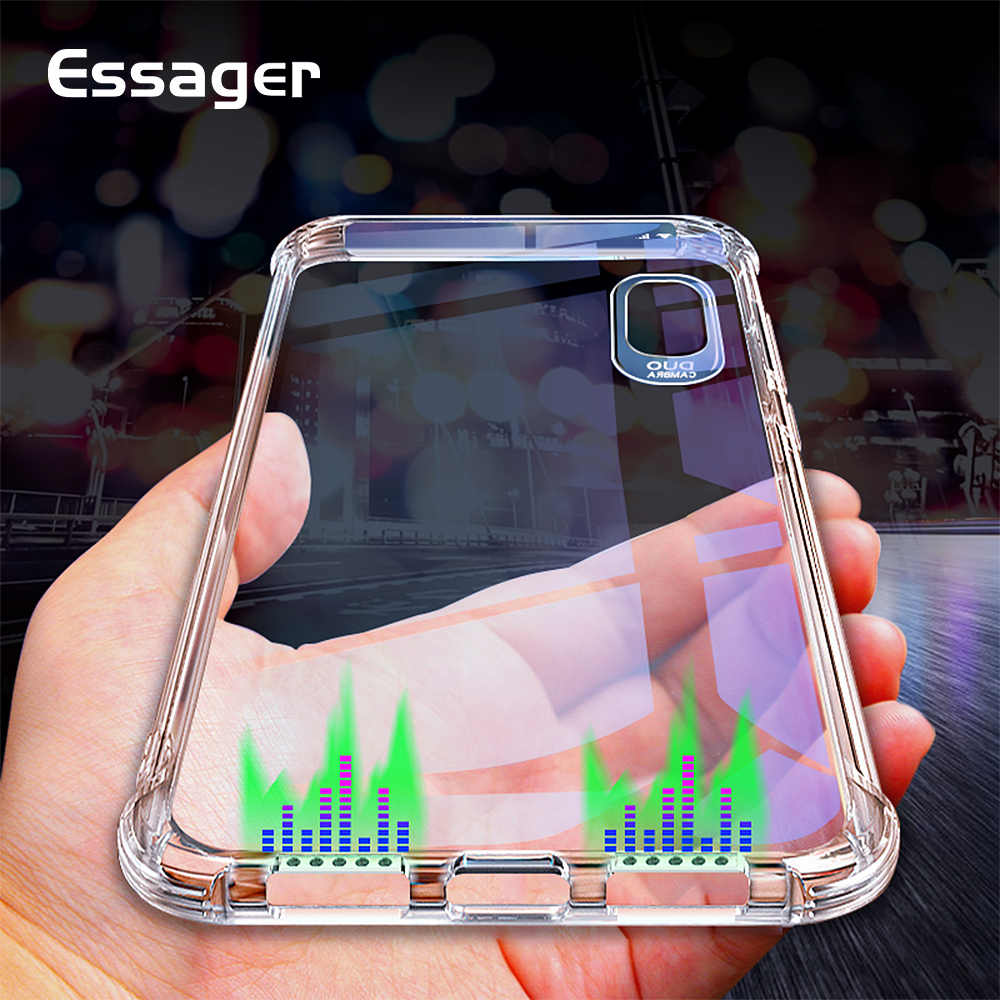 Essager TPU Soft Tranasparent Phone Case For iPhone X XS XR XS MAX 5 5S SE Silicone Back Cover For iPhone 7 8 Plus 6 6s Plus