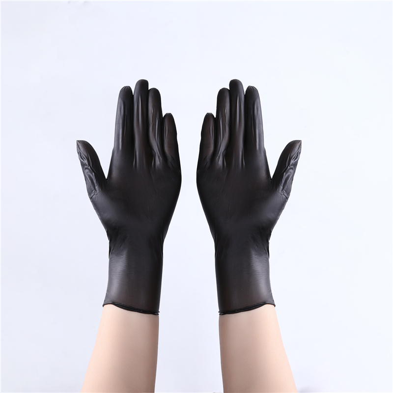 100 Pcs/Box Ambidextrous Camp Chef Gloves Maxiflex Gloves Disposable Daily Use Household Products Black Nitrile gloves