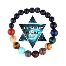 Eight Planets Bead Bracelet Universe Yoga Chakra Bangle Jewelry Gift for
