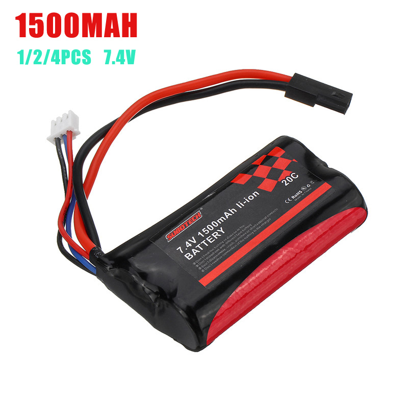 SUBOTECH 18650 7.4V 1500mAh 20C <font><b>2S</b></font> Li-ion <font><b>Battery</b></font> for BG1513 BG1515 BG1518 RC Vehicles Model DIY Accessories Replacement Parts image
