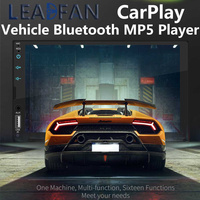 Leadfan 2 Din Apple Carplay Car Radio Bluetooth Android Auto 7 Touch Screen Video MP5 Player USB TF ISO Stereo System Headunit