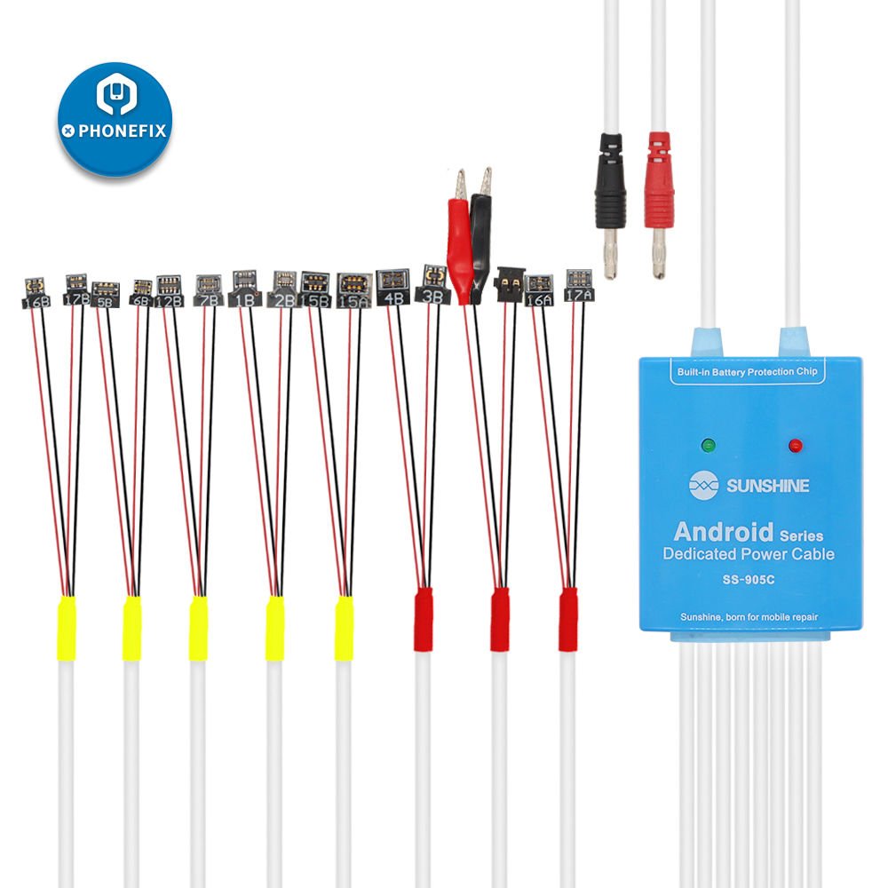 Sunshine SS-905C Android Test Cable For Samsung Huawei Power Supply One Button Boot Control Line For OPPO Xiaomi Motherboard
