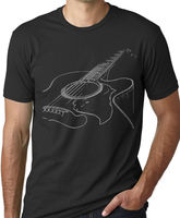 Think Out Loud Apparel Acoustic Guitar T Shirt Musician Tee Guitar Player Shirt Cheap Wholesale tees,100% Cotton Tee Shirt