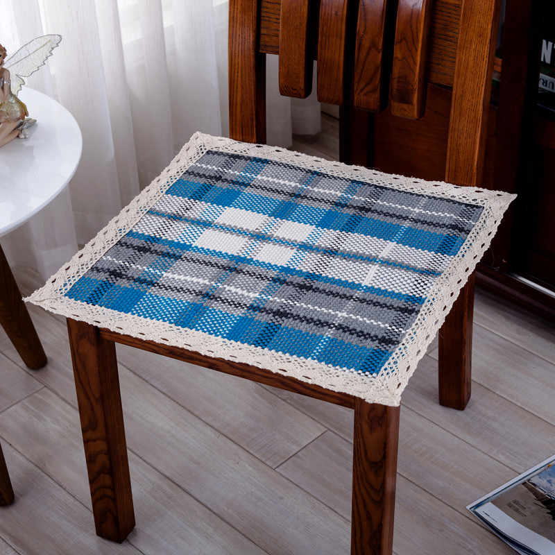 2019 new cotton woven lace chair cushion hand-woven anti-wrinkle wear four seasons available