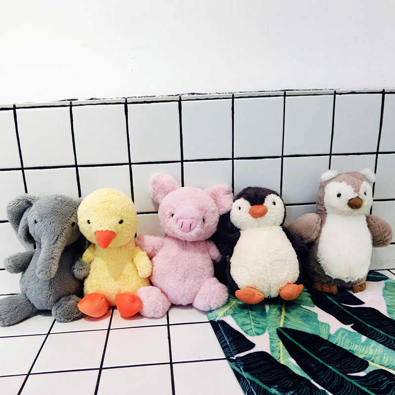 Baru Menenangkan Boneka Lembut Lucu Kartun Hewan Plush Boneka Bayi Tidur Bantal Anak-anak Gadis Hadiah Dekorasi Kamar Bantal Sofa