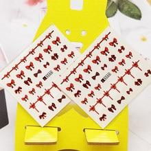 2 pcs adesivos para unhas bonito arco vermelho design unhas arte decorações manicure decoração aguarela decalque do prego adesivos accessoires