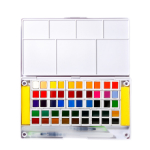 Superior 12/18/24/30/36/40/48Color Transparent Solid Watercolors for Painting Watercolor Paint Pigment Art Supplies