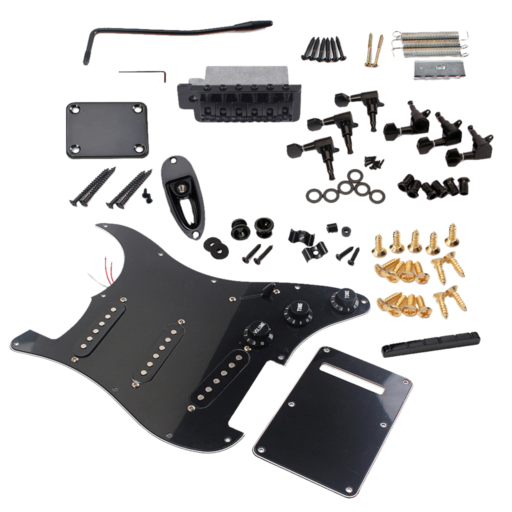 3 plis SSS filaire pick-up Pickguard jeu de plaques à gratter pour pièces de guitare électrique