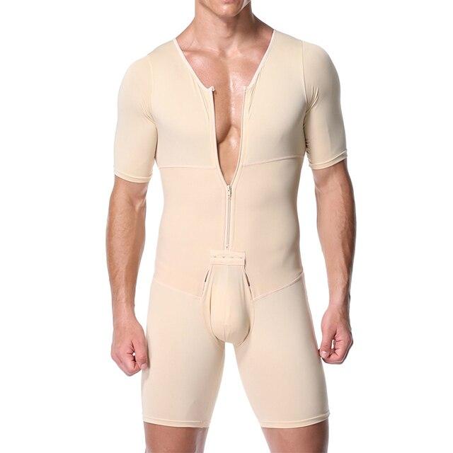 Shapers Sexy Mens Body Shaping Control Slim Corset Shapeware Bodysuit Body Shaper Body PantsWaist Cincher Belly Control Slimming