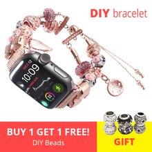 DIY women watch strap for apple watch 4 band 44mm iwatch sport bands 42mm accessories 40mm series 4 3 2 bracelet 38mm watchband пуговицы diy 42mm