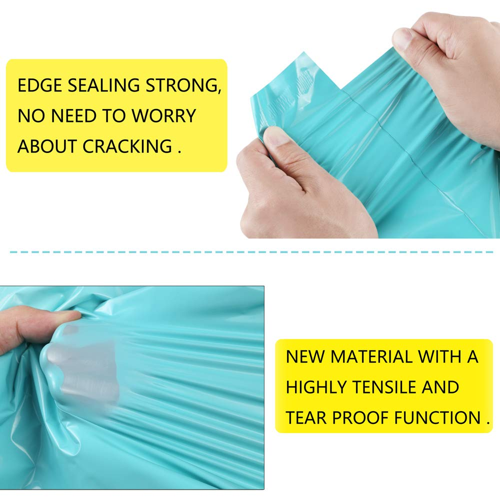 Poly Mailers 14.5x19 Pack of 100 Teal