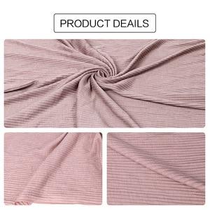 Image 4 - Jersey rughe hijab sciarpa in cotone tinta unita elasticità scialli piega hijab lungo musulmano testa wrap sciarpe/sciarpa 10 pz/lotto