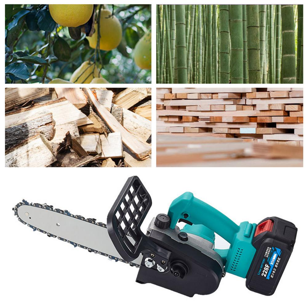 Tools : Mini Electric Chainsaw Set Portable Cordless Handheld Pruning Saw Lithium Battery Wood Cutter Home Garden Logging Power Tool