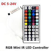 DC 5V 12V 24V  44Key RGB Mini IR Remote LED Controller 12A 72W Driver Dimmer For SMD 2835 3528 5050 5730 5630 3014 RGB LED Strip