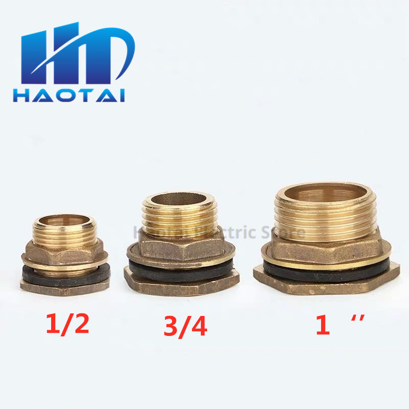 Brass Inner And Outer Wire Water Tank Joint 1 / 2 Drain Outlet Water Tower Water Tank Fish Tank Water Bucket Accessories