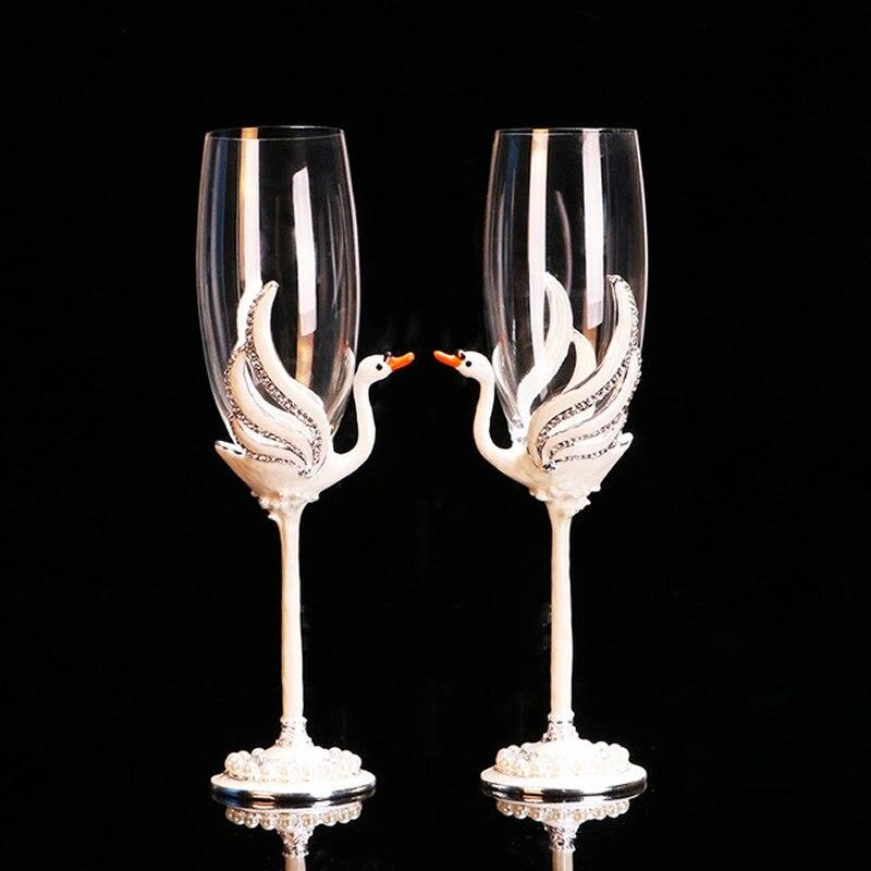 Couple romantique cristal verre champagne verres gobelet vin verre beau cadeau de mariage décoration de noël idée