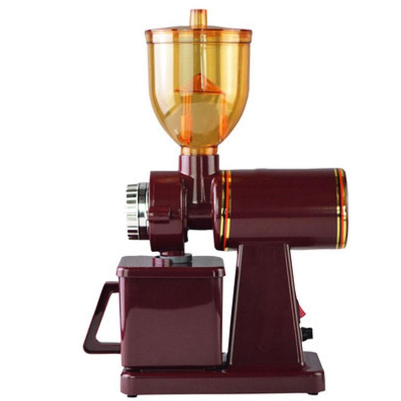220V Semi-automatic  Electric Coffee Grinder Flat Knife Grinder  Coffe Machine