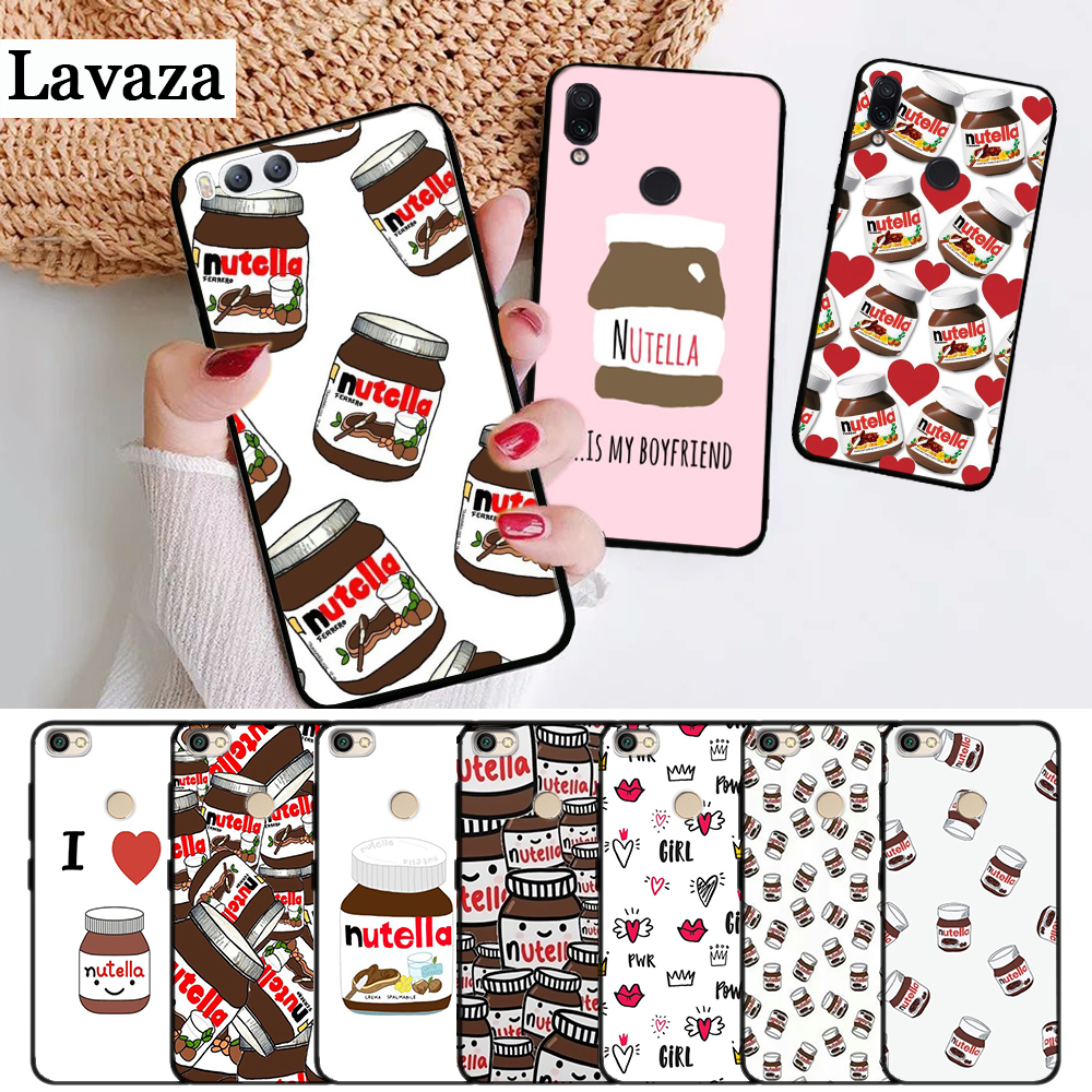 Lavaza voedsel Chocolade Nutella Siliconen Case voor Xiaomi Redmi Opmerking 4X5 5A Prime 6 7 8 Pro 8T