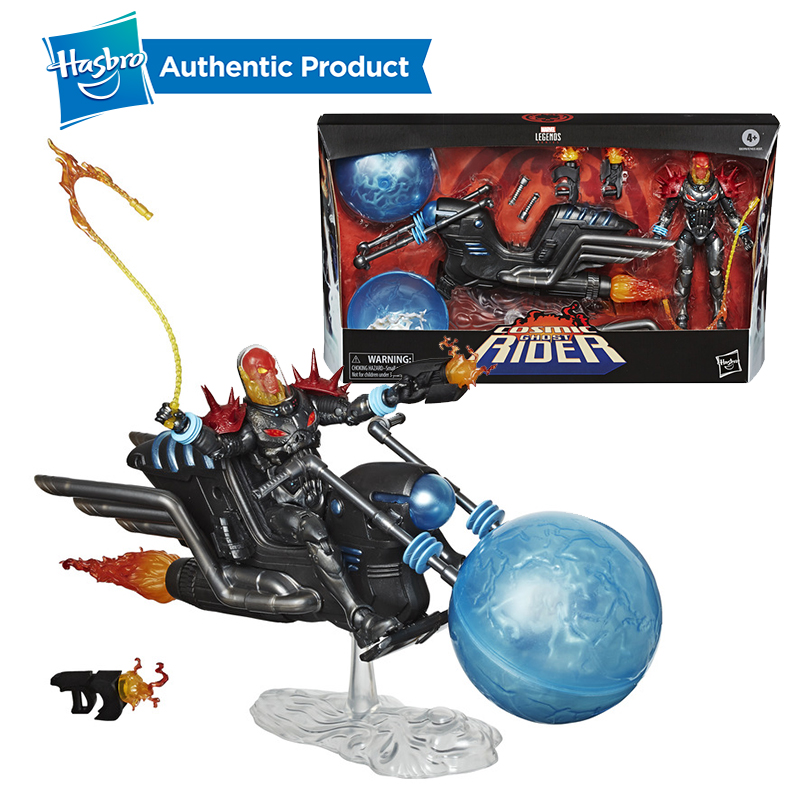 Hasbro Marvel Legends Vehicle Series 6-inch Cosmic Ghost Rider & Unbeatable Squirrel On Scooter Collectible Action Figure Toy