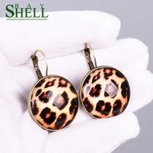 Shell Bay Small Earings Jewelry Women Leopard Fashion Earrings Cute Punk Earrings Pendientes girls Wholesale Simple Earring Boho