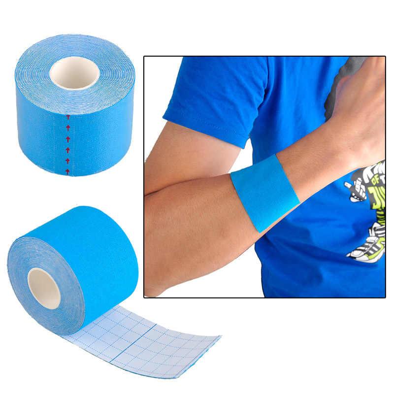 Cinta de kinesiología atlética cinta de recuperación deportiva Strapping gimnasio Fitness tenis Running rodilla protector muscular Tijera