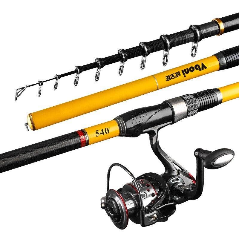 carbon fiber Spinning Fishing Rod 3.6M 4.5M 5.4M 6.3M M Power Telescopic Rock Fishing Pole Carp Feeder Rod Surf
