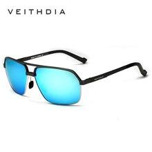 VEITHDIA Brand Al Mg Alloy Vintage Polarized Square Sunglasses 6521