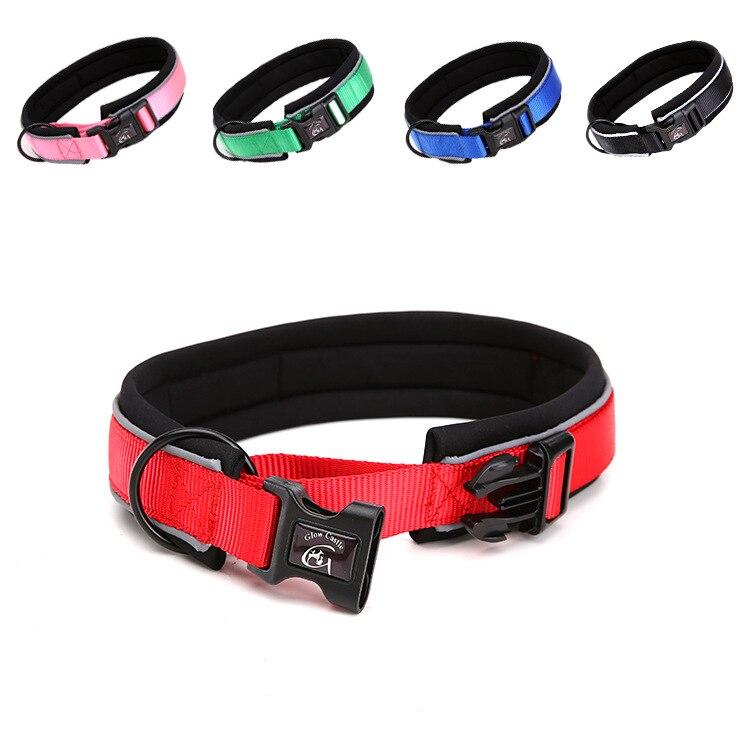 Reflective Strips Neoprene Dog Collar Dog Hand Holding Rope Pet Supplies Accessories Dog Chain Dog Collar
