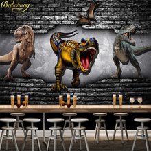 Beibehang Custom Foto Behang Dinosaurus Kinderkamer Grote Muurschildering Behang Voor Muren 3 D Muur Papers Home Decor 3d vloeren(China)