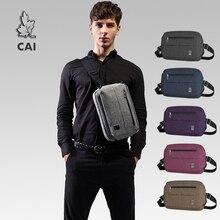 CAI moda renkli Messenger omuzdan askili çanta kadın/erkek rahat su geçirmez göğüs paketi çapraz vücut askılı çanta seyahat CrossbodyBags