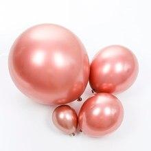 5/10/12/18 zoll Rose Gold Glänzend Metall Perle Latex Ballons Chrome Metallic Farben Helium Luft bälle Globos Geburtstag Party Decor