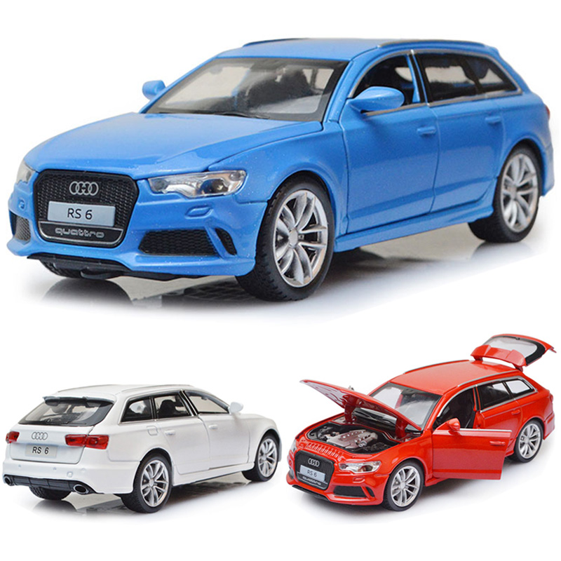 1:32 Audi RS6 Car Model Alloy Car Die Cast Toy Car Model Pull Back Children's Toy Collectibles Free Shipping