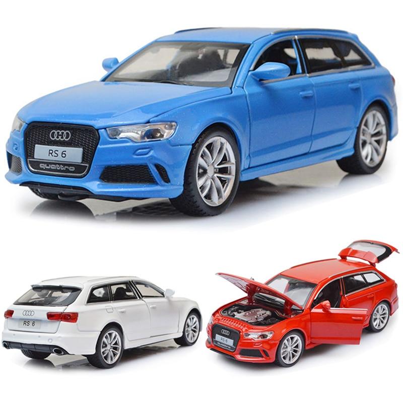 132 audi rs6 modelo de carro liga carro de brinquedo fundido modelo de carro puxar para trás brinquedo das crianças collectibles frete grátis