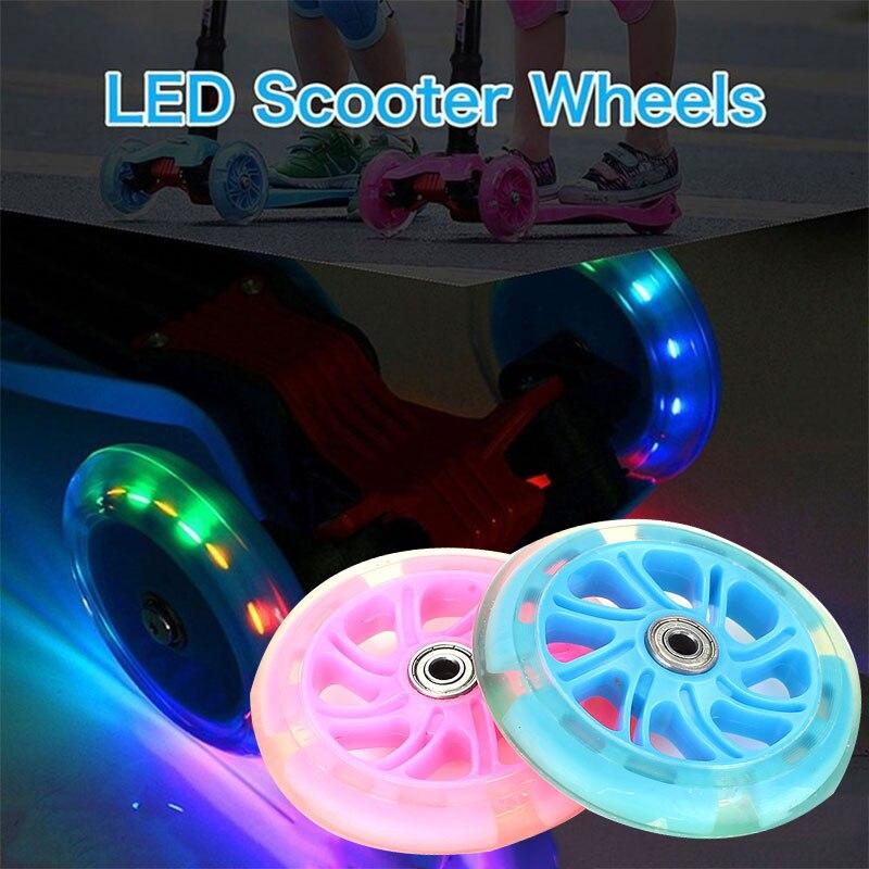 Casters 2 Color 120mm Durable Shopping Cart Single Warping Slide Scooter Longboard Pulley Wheel PU Skateboard Wheel