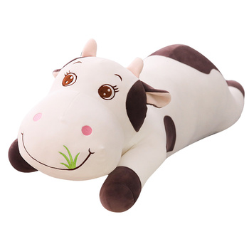 цена Hot Large Size Cute Animal Cartoon Cows Stuffed Plush Toy Super Comfortable Soft Toy Children Birthday Present Christmas Gift онлайн в 2017 году