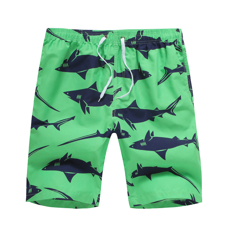 Hot Selling Quick-Dry Shorts Gradient Color MEN'S Beach Pants Europe And America Large Size 5 Shorts Swimming Trunks