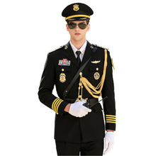 Coat Business-Suit Security-Guard Military-Uniform Cosplay Work-Wear Classical And Spring