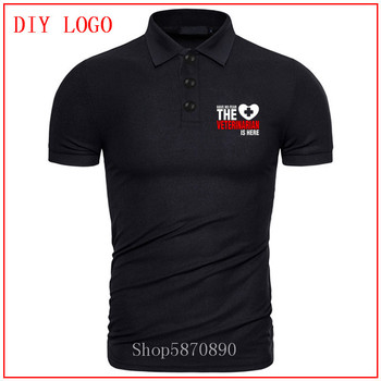 Camiseta polo Have No Fear The Veterinary Is Here para hombre camiseta...