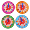 Children Montessori Wooden Clock Toys Hour Minute Second Cognition Colorful Clocks Toys for Kids Early Preschool Teaching Aids flash sale