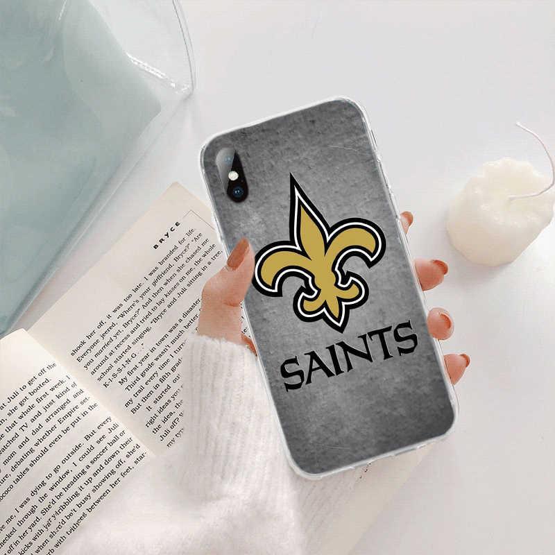Babaite nouvelle orléans Saints bricolage beaux accessoires de téléphone étui pour iphone 5 5Sx 6 7 7plus 8 8plus X XS MAX XR 11 pro max