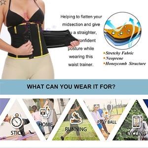 Image 5 - SEXYWG Back Support Waist Trainer Slimming Body Shaper Women Neoprene Sauna Shapewear Pulling Strap Firm Tummy Trimmer Slim Belt
