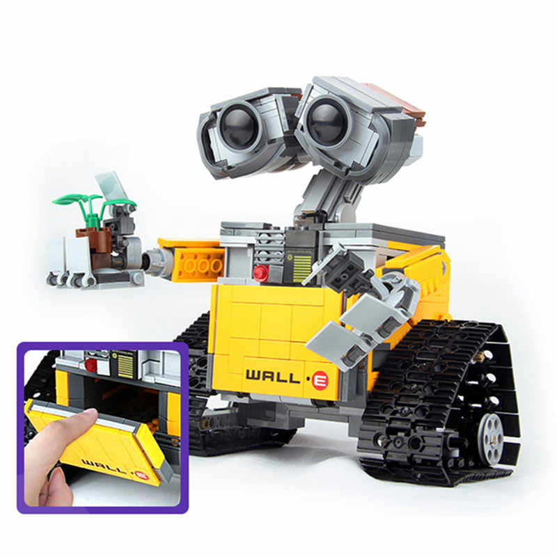 Kids Love 687PCS Idea Robot WALL E Legoed 21303 Model Building Blocks Kit Toys For Children Education Gift Bricks Toy